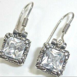 Silpada .925 Sterling  Silver & CZ Uptown Earrings